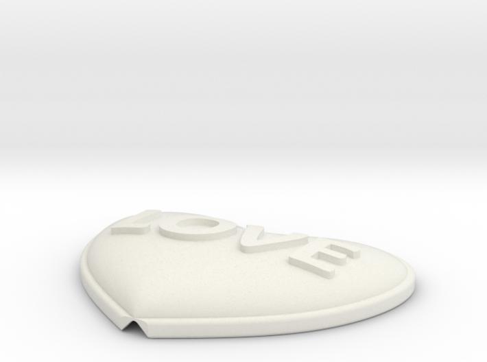 Heart Pendant Insert - LOVE 3d printed