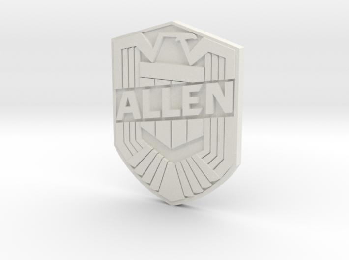 Allen Badge 3d printed