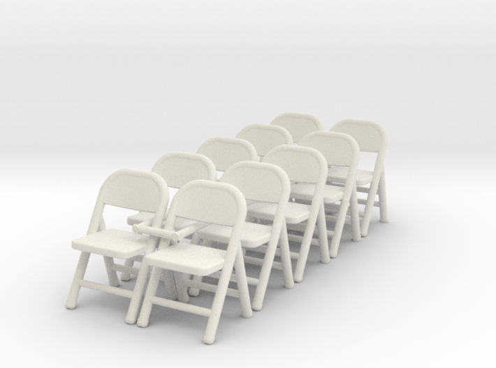 1:48 Folding Chair (Set of 10) 3d printed