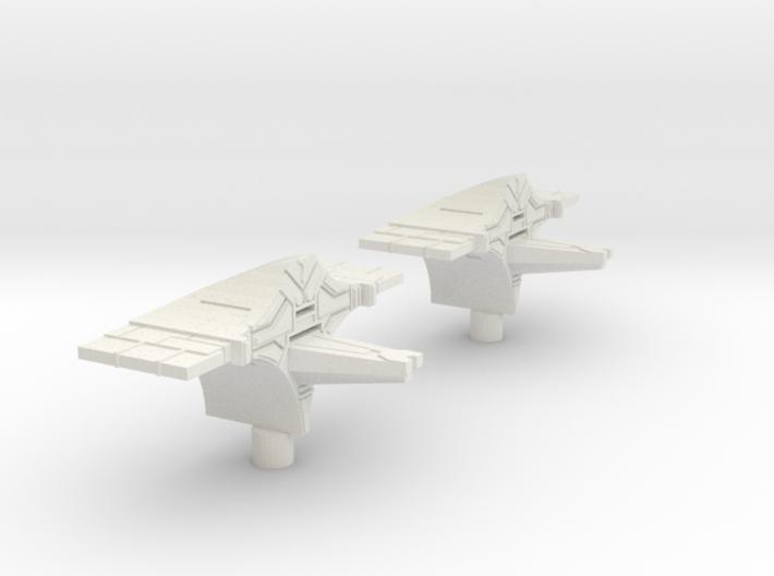Fleet Scale Series 2: Heavy Alien Cruiser 3d printed