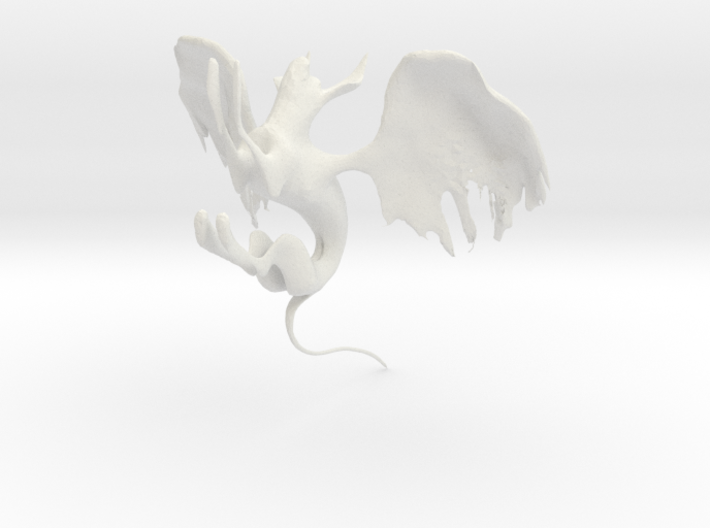 winged cat 3d printed
