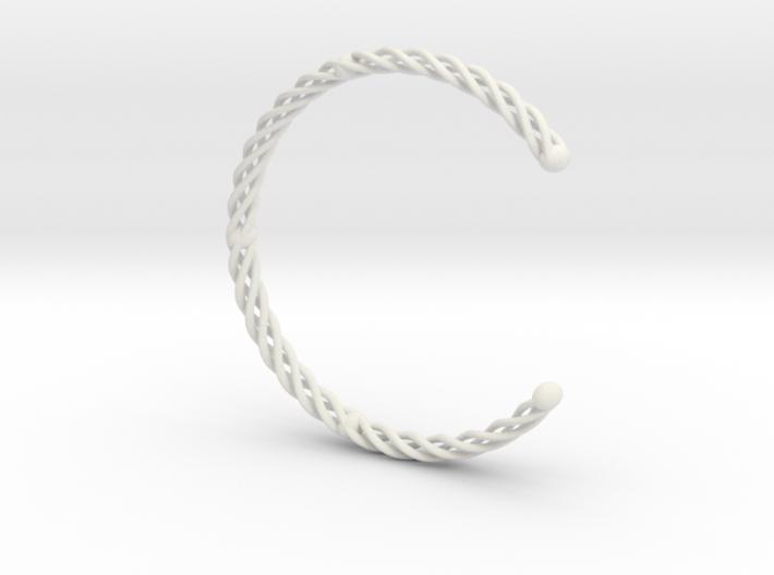 Spiral Bracelet Cuff Medium 3d printed