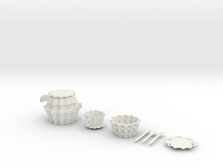 Goth Tea set 3d printed