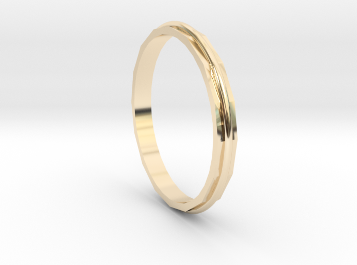 Square Two Ring - Sz. 9 3d printed