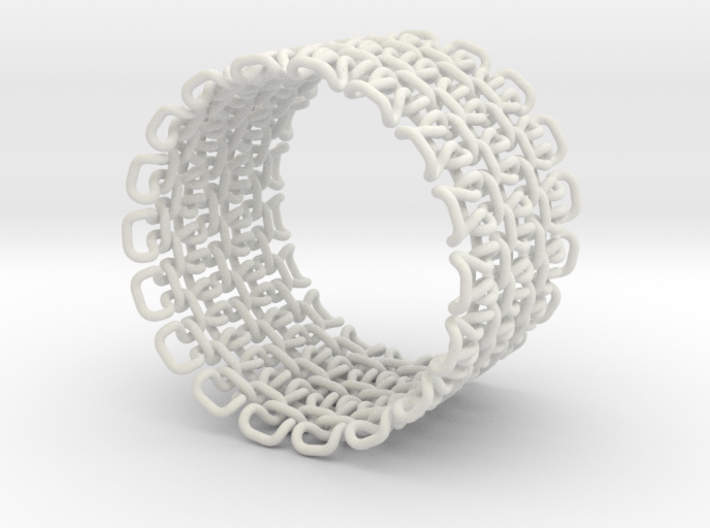 Stitch Bracelet - Large 3d printed