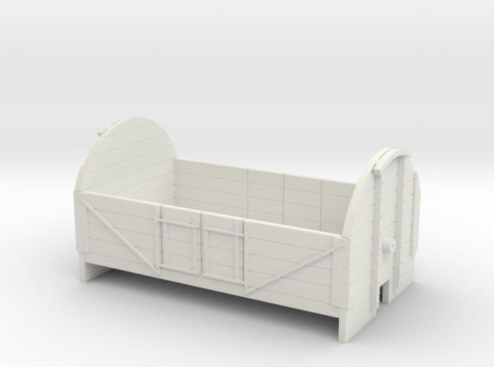 OO9 4 plank tarpaulin wagon 3d printed