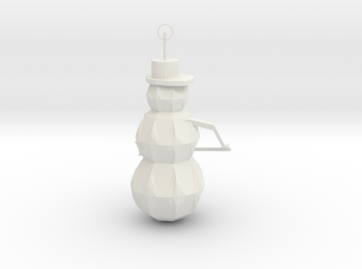 Snow Man Ornament 3d printed