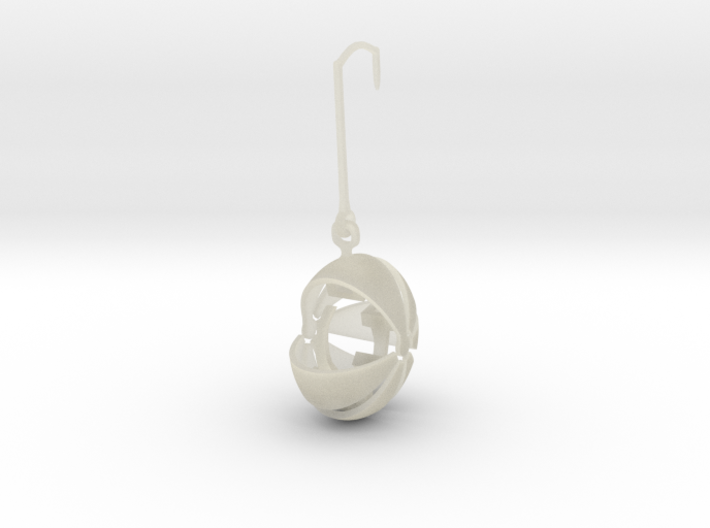 armadillo earring stone keeper 3d printed