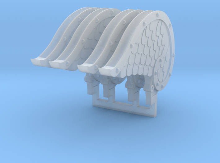 4x Mech Angel Wings 3d printed