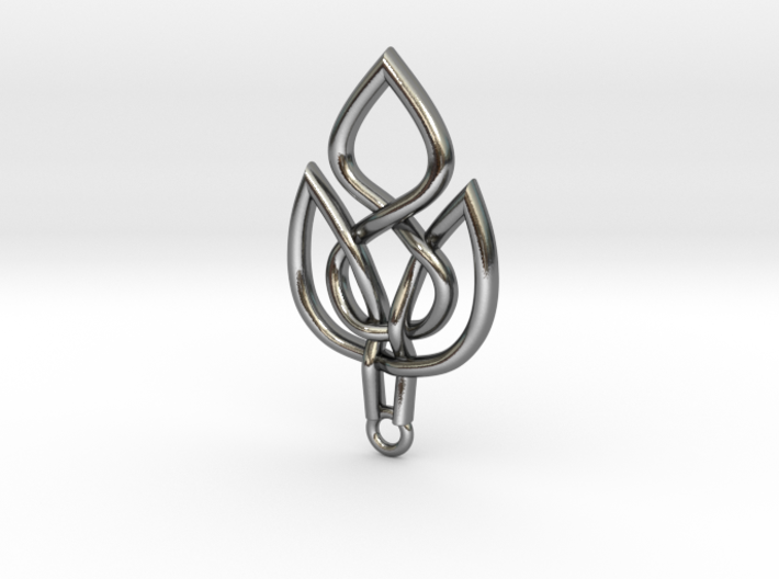 Leaf Celtic Knot Pendant 3d printed