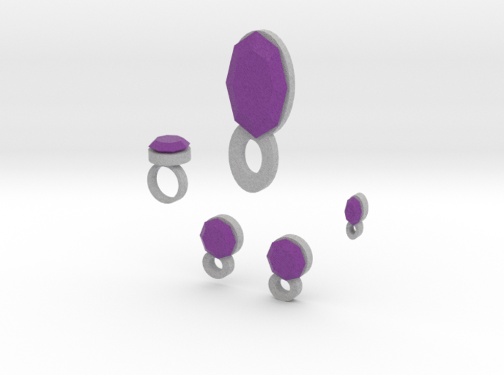 Lara Violet Airs Jewelry Set 3d printed