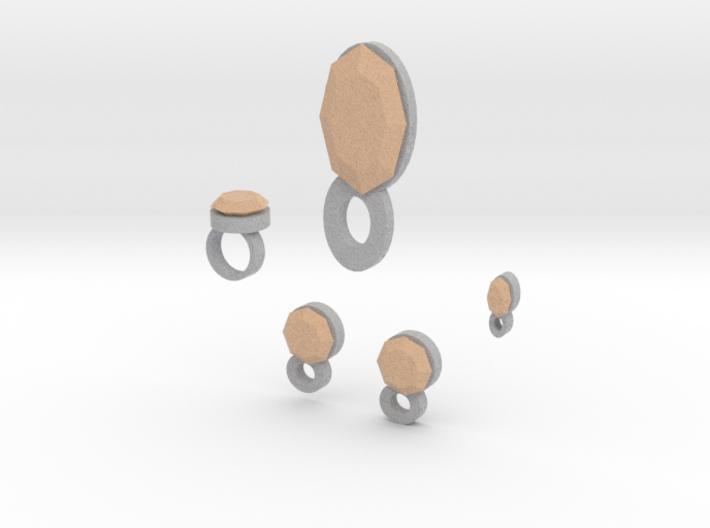 Lara Apricot Delight Jewelry Set 3d printed