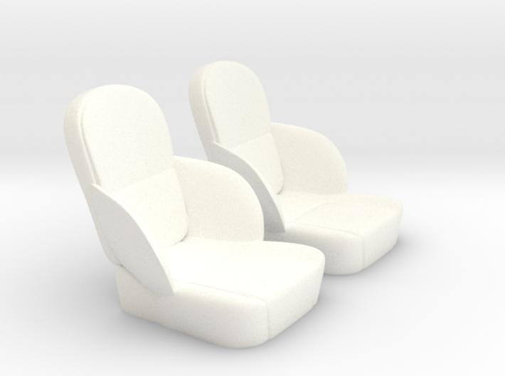 1/12 50s Sport Seat Pair 3d printed
