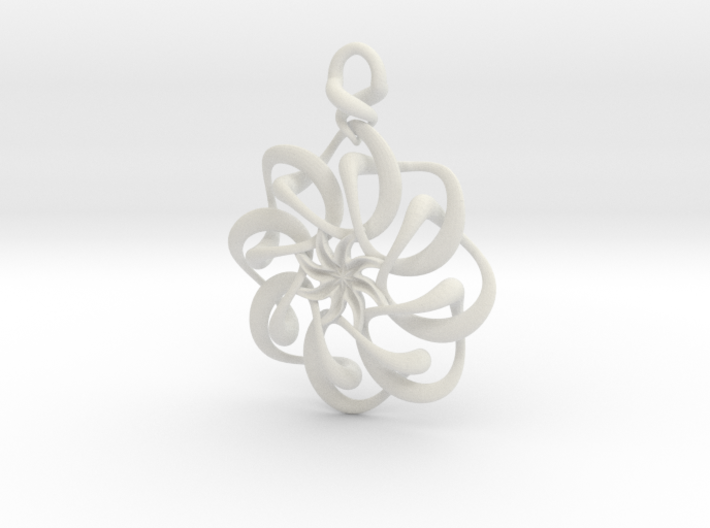 Twisted earring... or pendant 3d printed