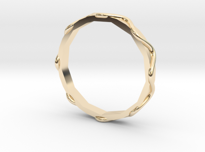 Waves Ring - Sz.7 3d printed