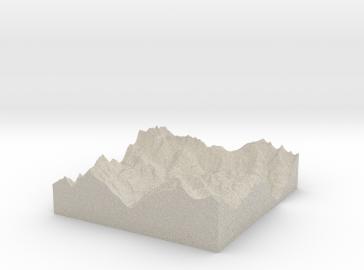 Model of Sankt Anton am Arlberg 3d printed