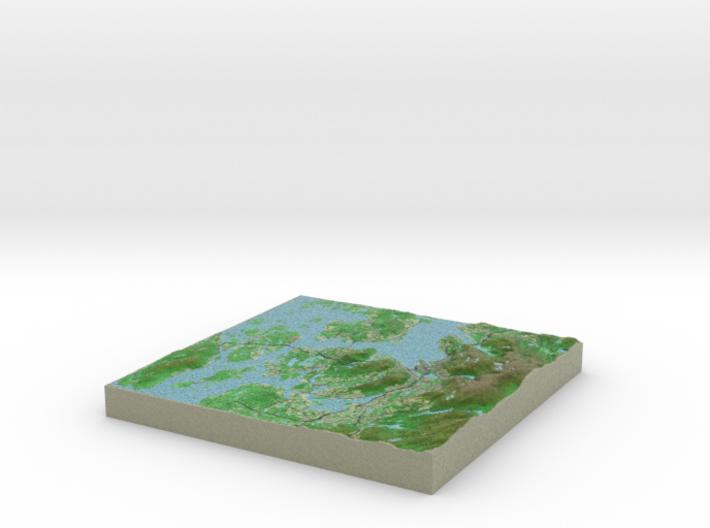 Terrafab generated model Fri Nov 22 2013 23:22:15 3d printed