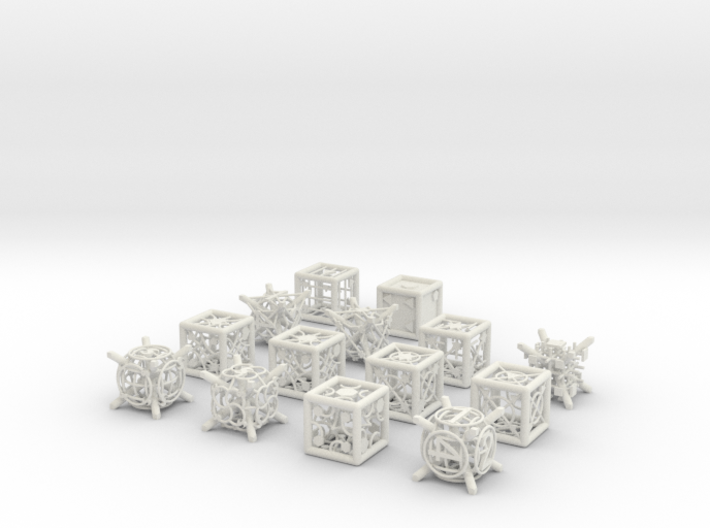 Grid Die All Pack 13 of 13 3d printed