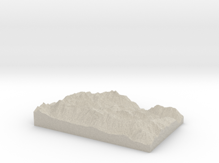 Model of Colchuck Lake 3d printed