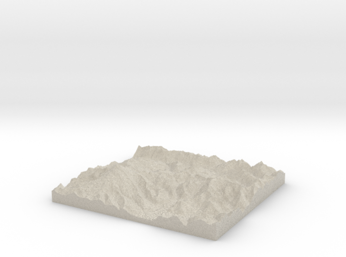 Model of Table Mountain 3d printed