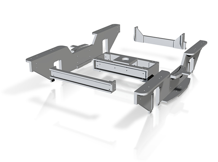 Rahmenteile Drehgestell Bauart Wismar IIf 3d printed