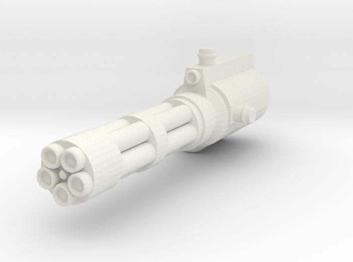 Action Figure Gatling Gun 3d printed