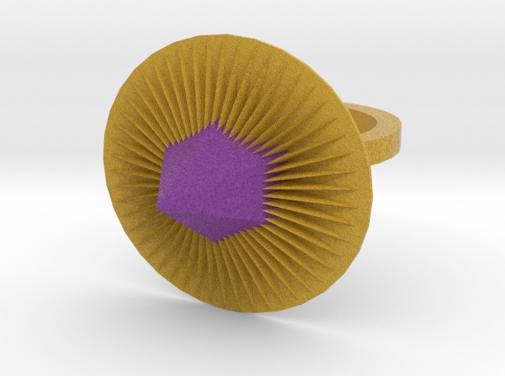 Purple Spike Ring 3d printed