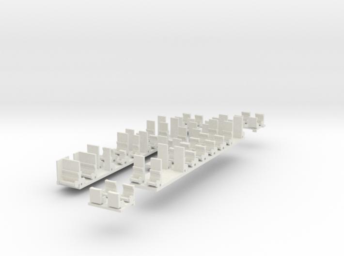 Plan U n-schaal (1:160) stoelen 3d printed