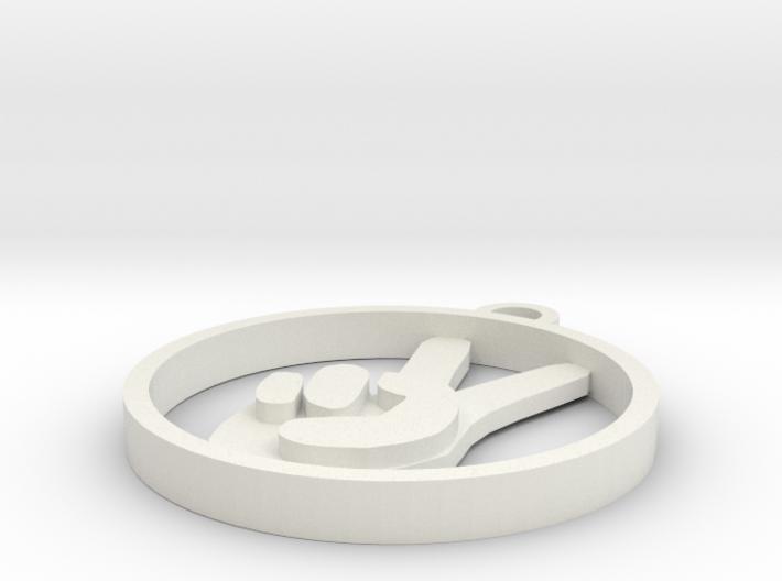 Pendant: Peace, Man 3d printed