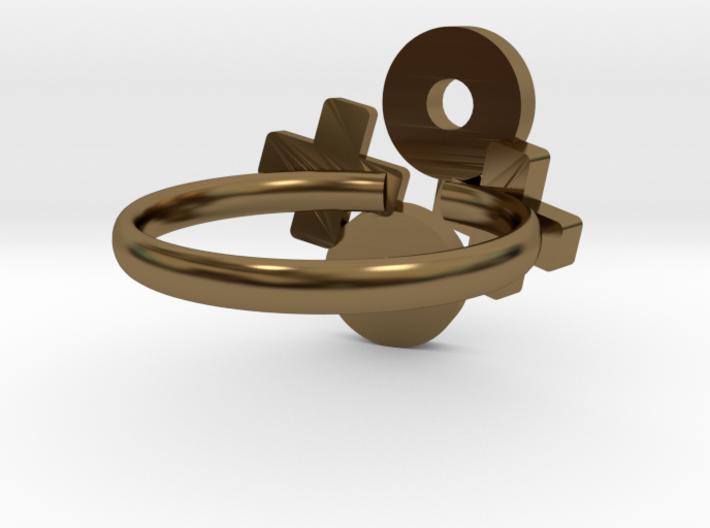 Xoxo Ring  3d printed