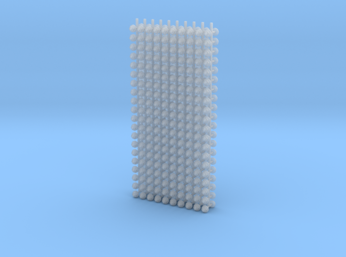"""G scale (1:24) 1.25"""" hexagonal nuts with round was 3d printed"""