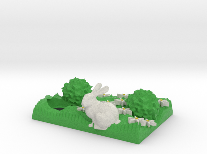Spring Bunny And Hole 3d printed