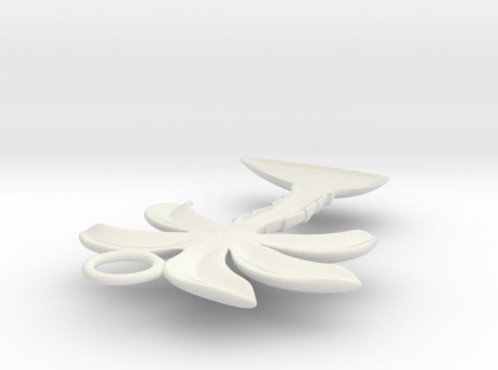 Palm Tree Pendant 3d printed