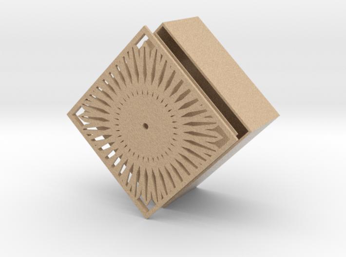 colour sandstone jewelry box 3d printed