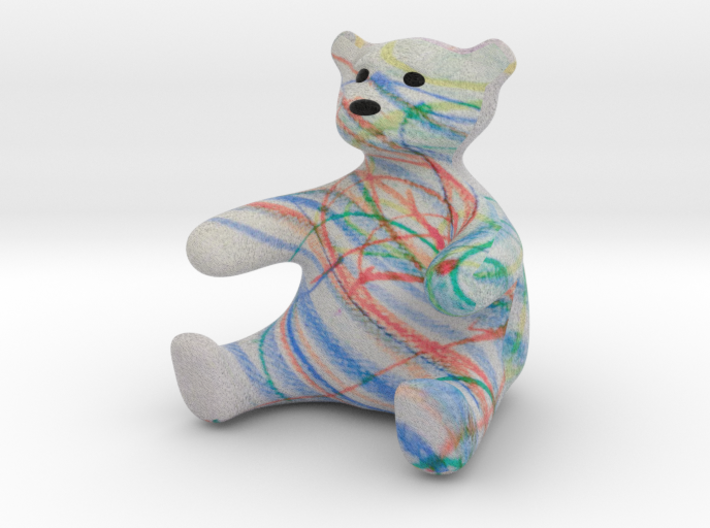 Color Me Teddy Bear Sculpture - Small 3d printed