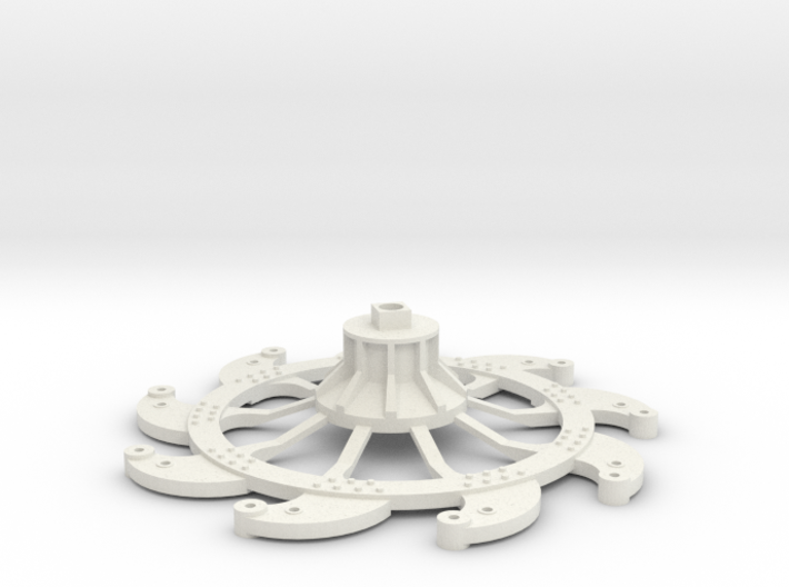 Paddlewheel Back 3d printed