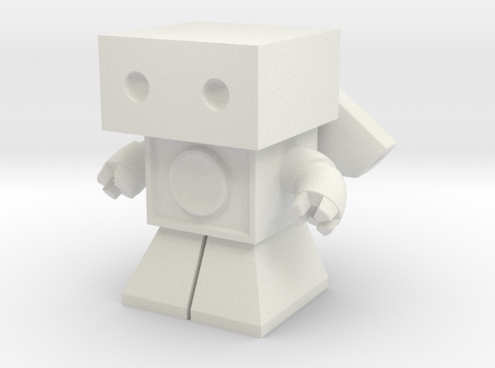 Sonic Boom Robot 1.45 inches tall (remodeled) 3d printed