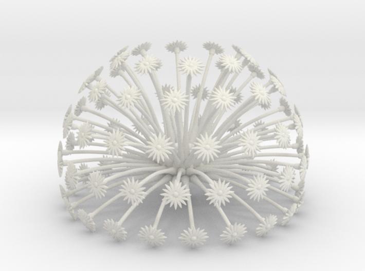 Flowerhead 8 - maximum density 3d printed