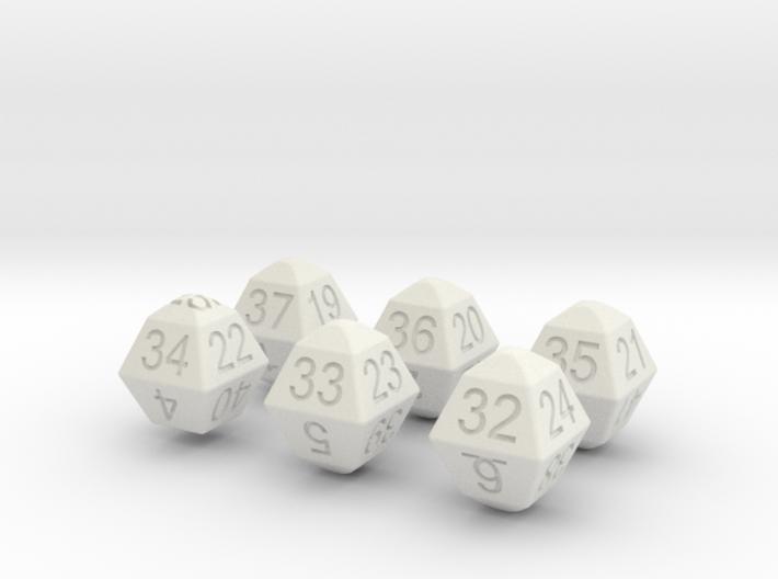Lotto Dice(6x49) 3d printed