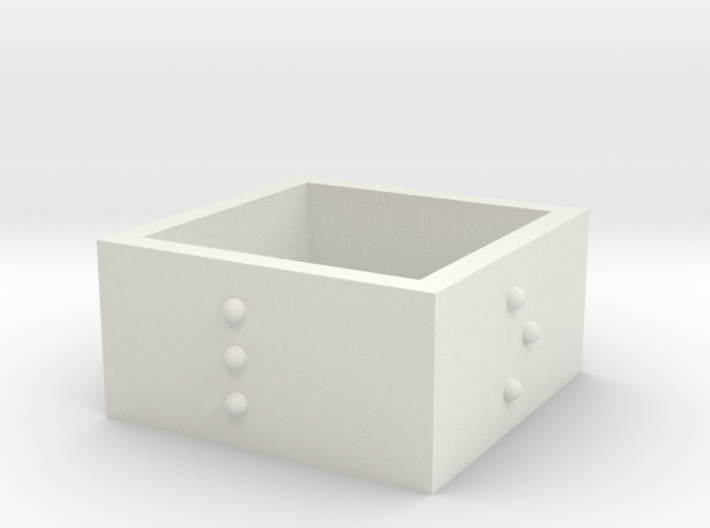 SquareRing_LOVE_20mmx12mm 3d printed