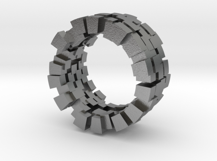 Cubic ring 3d printed