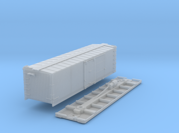 N-Scale D&SL 52100 Series Boxcar Kit 3d printed