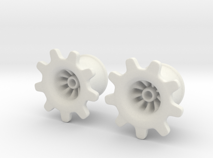 "Gear-ring Plugs 1/2"" 3d printed"