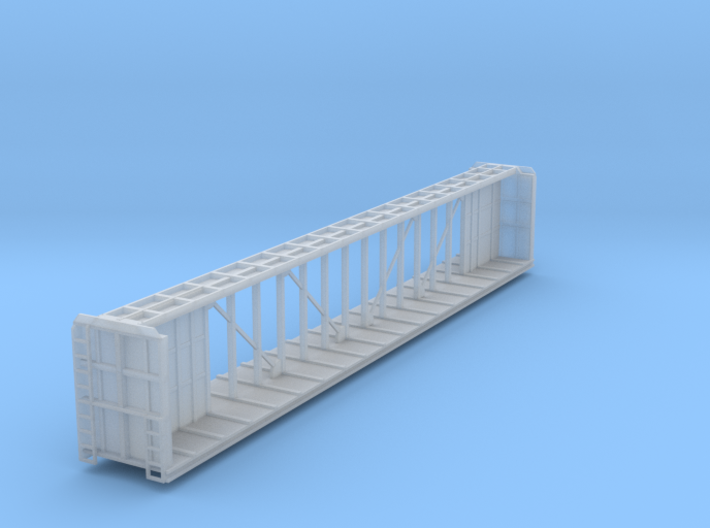 Z Scale Centerbeam Flat Car 3d printed