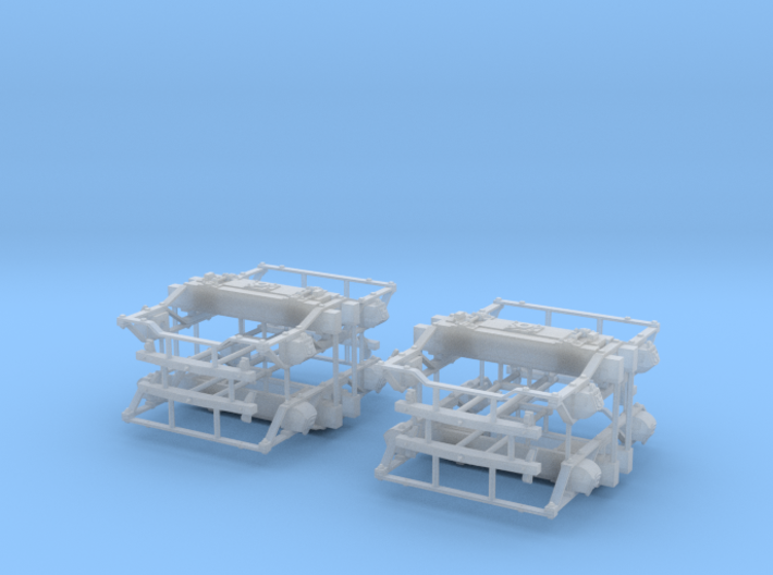 """On3 DSP&P Type """"A""""/Litchfield Trucks, 2 pair 3d printed"""