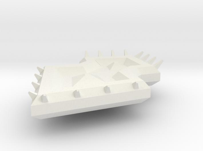 Diamond Spiked Shield 3d printed