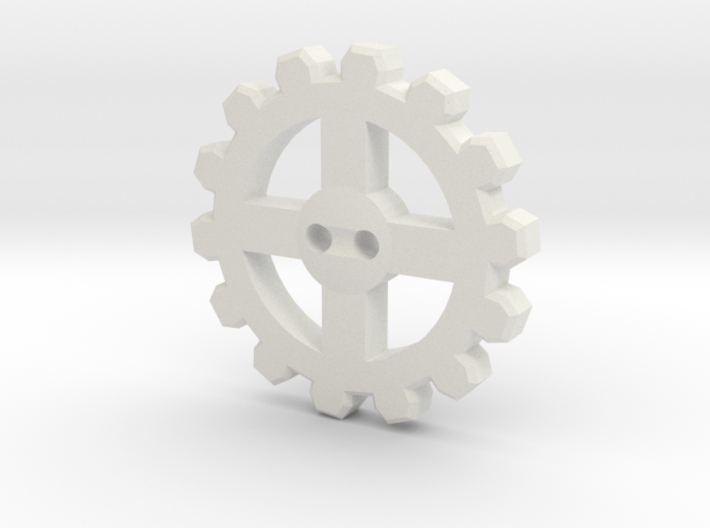 Cogwheel Button 01 3d printed