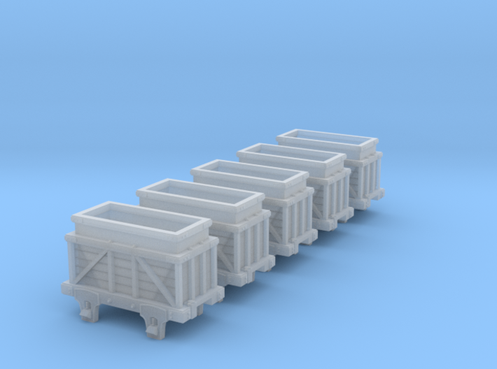 Hon3 Ore Car 5 pack 3d printed