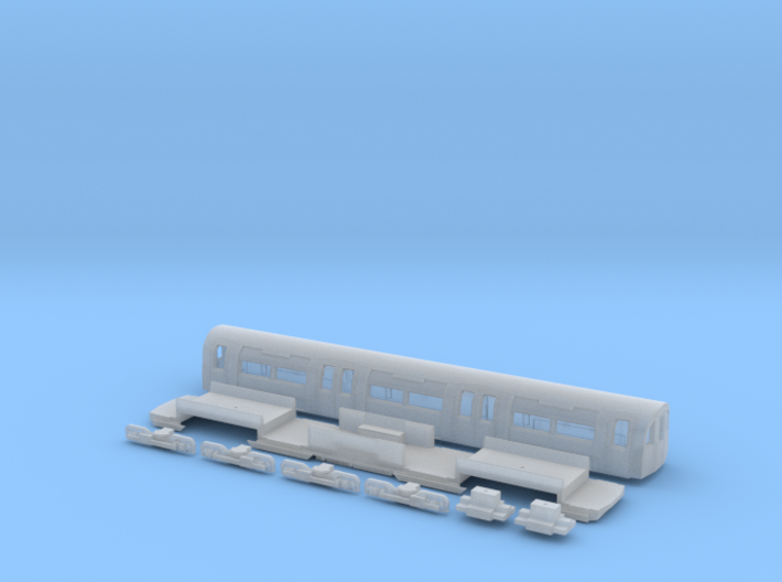 NT95UNu 1:148 95 tube stock UNDM (unpowered) 3d printed