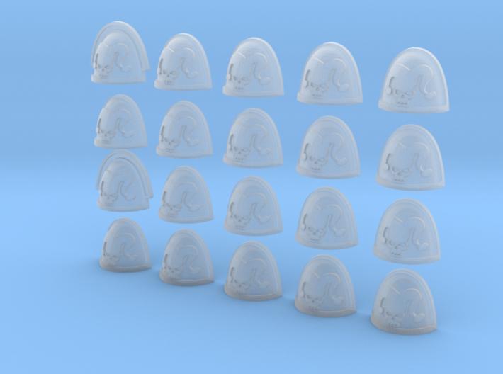 20 28mm Custom Shoulder Pad Jester Skull 3d printed